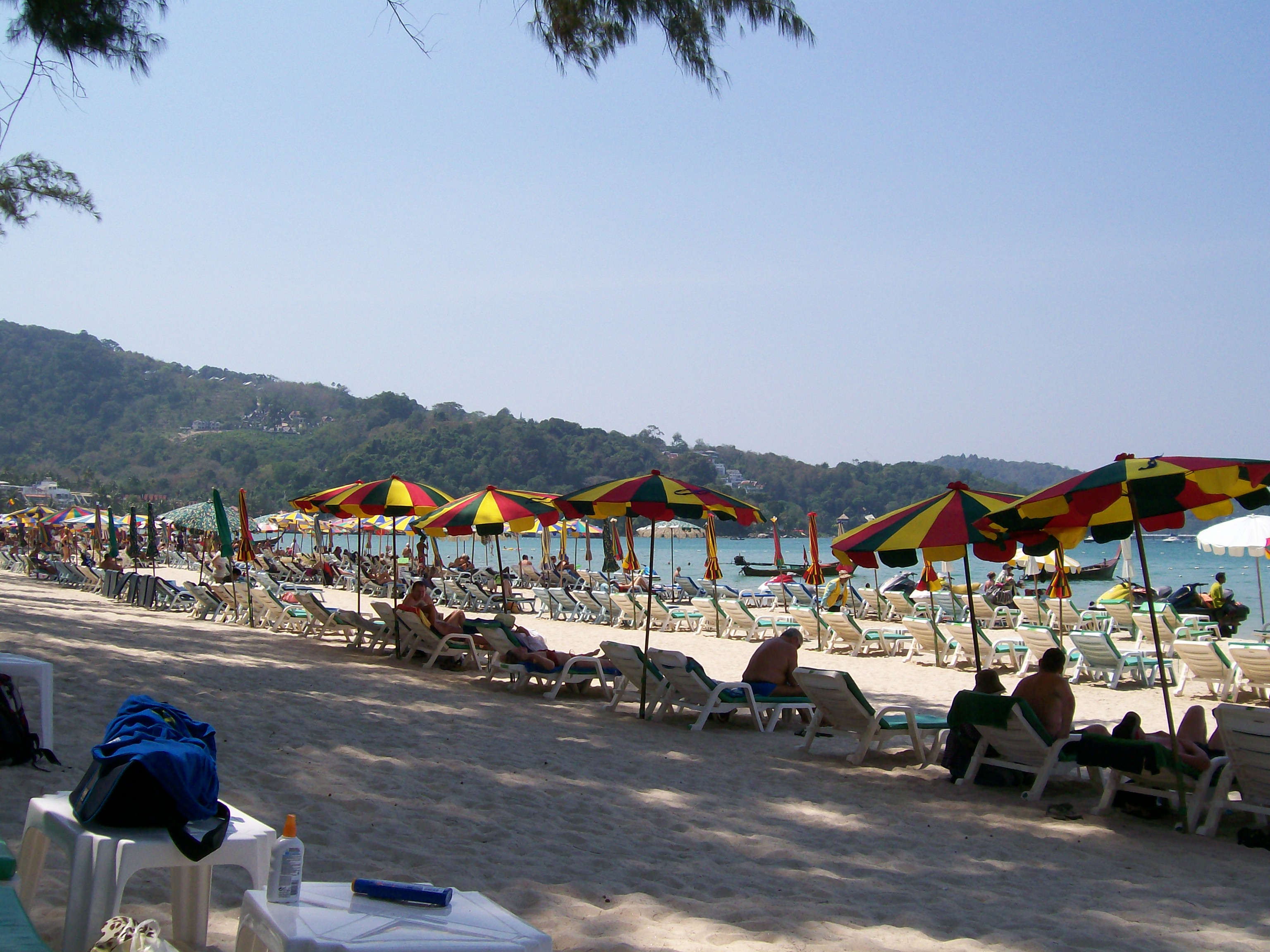 Patong Beach with loungers